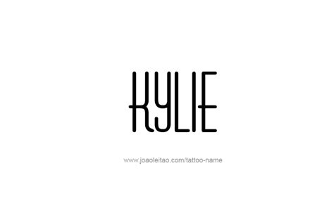 kylie  tattoo designs