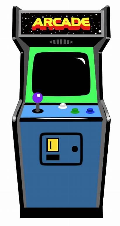 Arcade Machine Transparent Retro Clipart Clip 80s