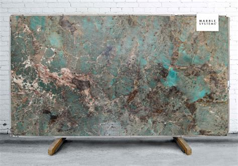 Amazonite Polished Quartzite Slab Random 1 1/4   Marble