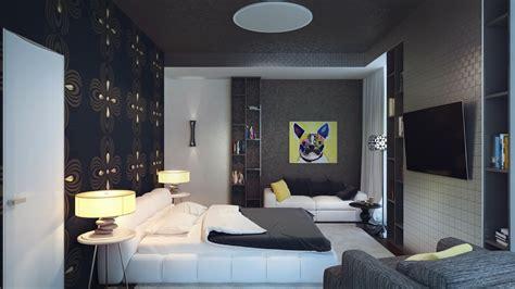 black white yellow bedroom interior design ideas
