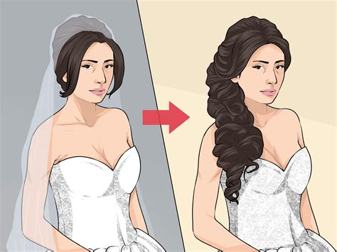 ways  style  hair   cathedral veil wikihow