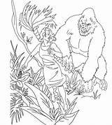 Kong King Coloring Pages Skull Jungle Bestcoloringpagesforkids Momjunction Monster Printable Movie sketch template