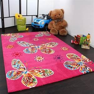Kinder Teppich 160x230 : kinder teppich butterfly pink teppichcenter24 ~ Watch28wear.com Haus und Dekorationen