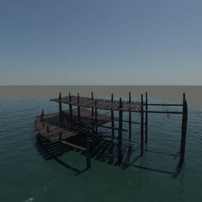 Old Boat Dock by Old Boat Dock 3d Max