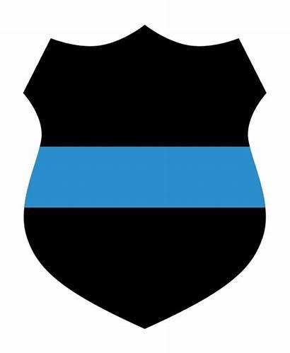 Thin Line Shield Police Badge Clipart Heart