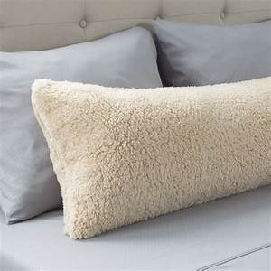 warm, body, pillow, cover, soft, comfy, pillow, case, zippered, washable, 52, x, 18, inches, light, beige