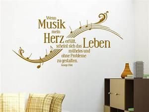 Wandtattoo Wenn Musik mein Herz erfüllt WANDTATTOO DE