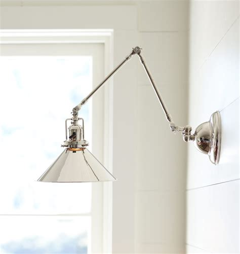 reed swing arm wall sconce industrial modern farmhouse
