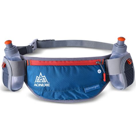 aonijie running sports waist bag with bottles