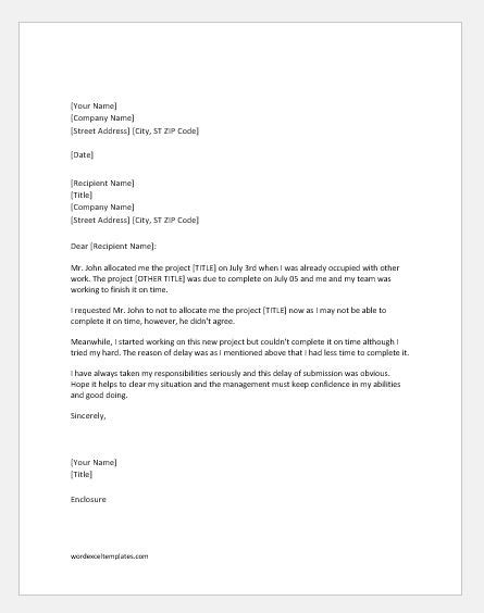 apology letter  late submission  project word