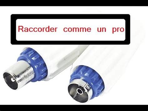 brancher cable antenne prise murale raccorder prise d antenne 9 52