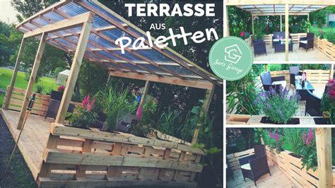 überdachte terrasse selber bauen terrasse aus paletten selber bauen palettenm 246 bel europaletten diy