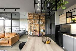 50 small studio apartment design ideas 2019 modern With kitchen cabinet trends 2018 combined with vintage airplane canvas wall art