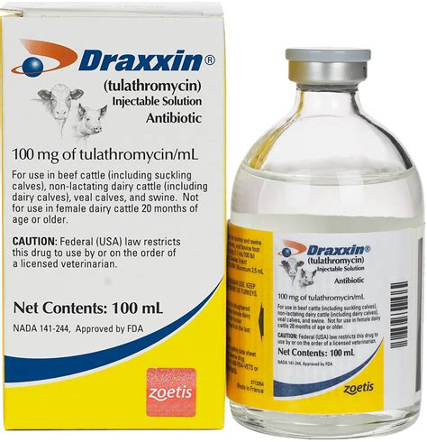 Draxxin Tulathromyicn for Cattle Swine Zoetis Animal ...