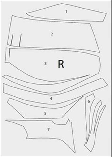foam helmet template pdf 27 best images about superheroes on armors armor and costumes