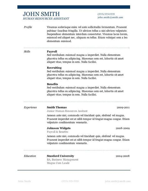 Sle Resume Templates Word by 50 Free Microsoft Word Resume Templates For