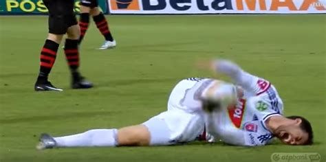 soccer player displays  absolute worst flop   history  sports video total pro sports