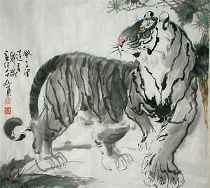 Chinese Painting: Tiger - Chinese Painting CNAG235004 ...