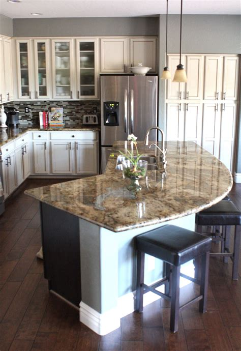 west island kitchen kitchen island two tiers with curved top