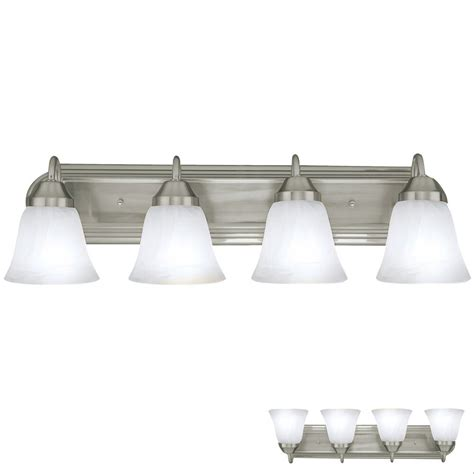 brushed nickel four globe bathroom vanity light bar bath