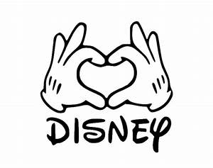 Mickey Mouse Hands form Heart Decal Disney Mickey Decal
