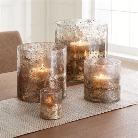 Sona Glass Hurricane Candle Holders | Crate and Barrel