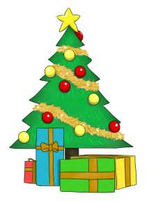 Christmas Tree with Presents Clip Art