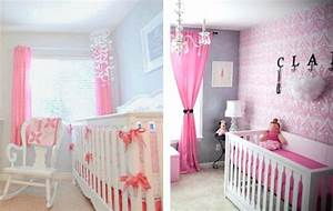 awesome idee de chambre bebe fille ideas awesome With chambre bebe fille rose