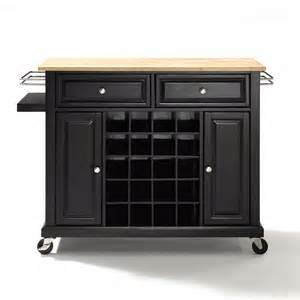 kitchen carts and islands crosley furniture kf3100 wine cart atg stores