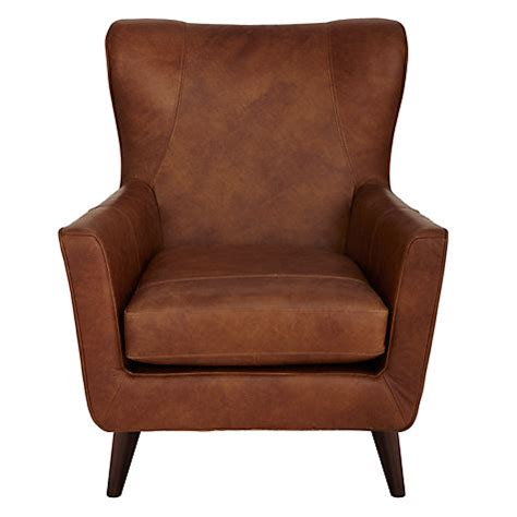 Leather Armchairs Lewis Buy Lewis Semi Aniline Leather Armchair