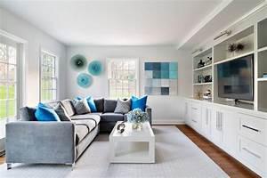 Bleu turquoise et gris en 30 idees de peinture et for Tapis bébé avec canapé d angle bleu turquoise