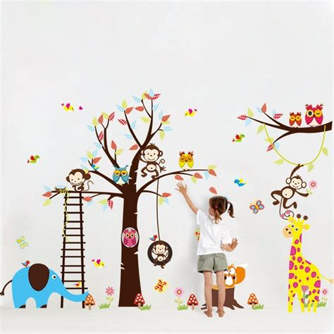 Wandtattoo Affe Kinderzimmer by Wandtattoo Wandsticker Deko Tiere Kinder Affe