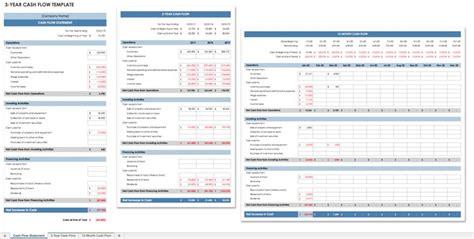 cash flow statement templates smartsheet