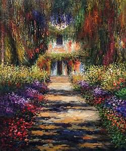Popular Monet Garden Painting-Buy Cheap Monet Garden