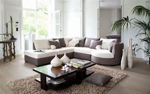 salon bois et chiffons 20 photos With tapis de marche avec canapé d angle beige marron