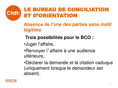 cfdt la procedure prudhomale renovee