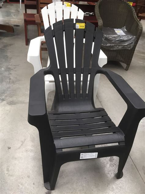 bunnings resin adirondack chairs black  white