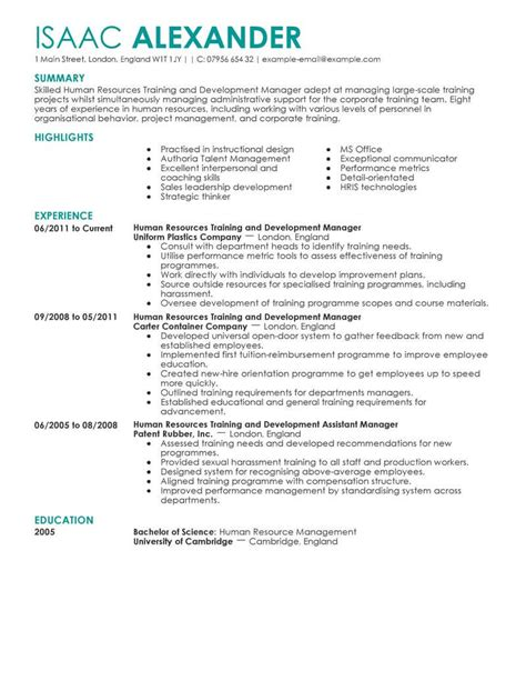 Hr Resume by 7 Amazing Human Resources Resume Exles Livecareer