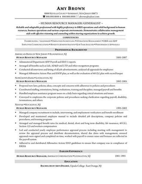 Human Resource Generalist Resume by Human Resources Generalist Resume Sle