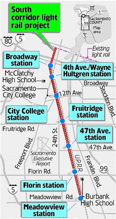 sacramento light rail map sacramento light rail south line opens on time on budget