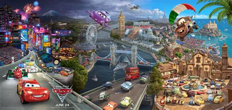 Cars 2 Movie Poster Triptych