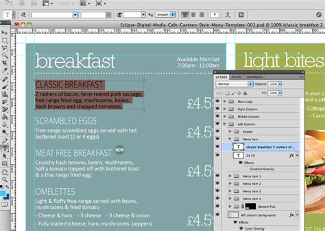 Canteen Menu Template by Cafe Canteen Style Menu Board Psd Template Eclipse