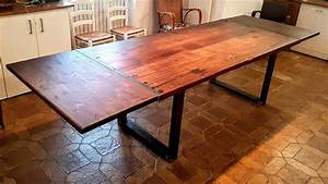 fabrication table a manger rallonges youtube With fabriquer table a manger