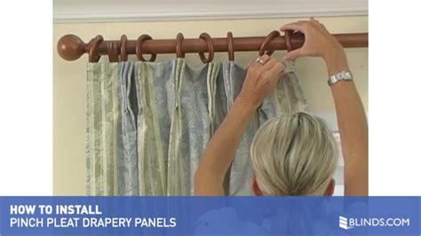 how to hang pleated curtains with rings