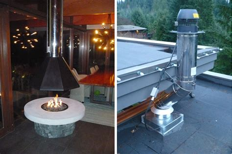 Kitchen Vent Hood Ideas - suspended outdoor fire pit chimney hood karenefoley porch and chimney ever barbecue outdoor