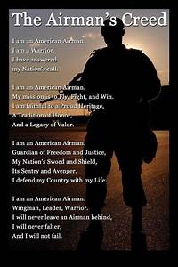 Air Force Creed... While this doesn't exactly pertain to ...