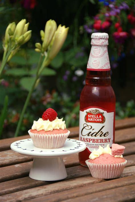raspberry cider cupcakes  stella artois cidre