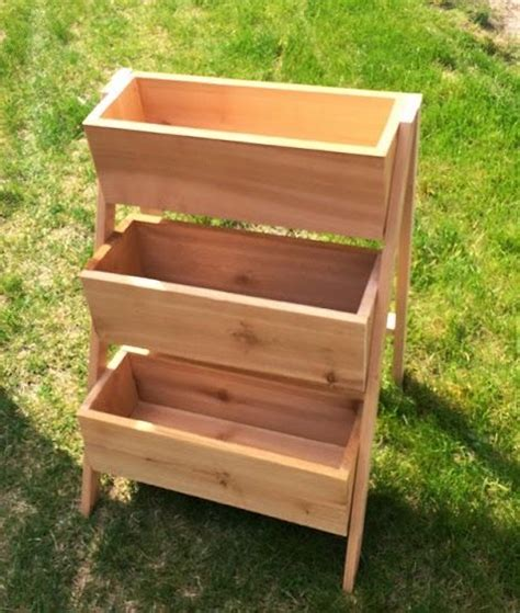 ana white build   cedar tiered flower planter