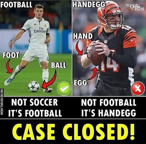 europeans realize    call football