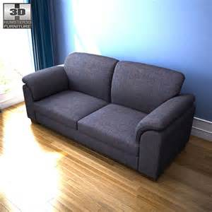 ikea tidafors three seat sofa 3d model humster3d